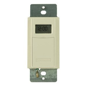 Intermatic EI600LAC Time Switch, 7-Day, Program., Astro, 20A, 120-277VAC, Light Almond