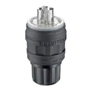 Leviton 26W81-B Locking Plug, 20A, 3PH Y 120/208V, L21-20R, 4P5W