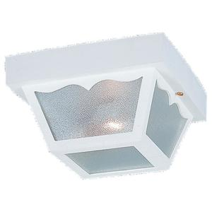 Sea Gull 7569-15 Ceiling Light, Outdoor, 2-Light, 60W, White