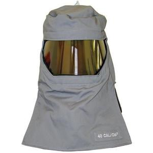 Salisbury FH40GY Arc Flash Hood, Green Lens, Gray