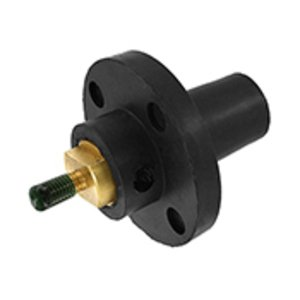 Leviton 17R22-E Female, Panel Receptacle, 90 Deg., 250-750 MCM, Threaded Stud, Cam-Type, Black