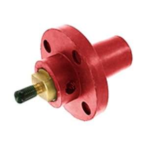 Leviton 17R22-R Female, Panel Receptacle, 90 Deg., 250-750 MCM, Threaded Stud, Cam-Type, Red