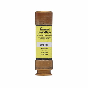 Eaton/Bussmann Series LPN-RK-60SP Fuse, 60 Amp Class RK1 Dual Element, Time-Delay, 250V, LOW-PEAK