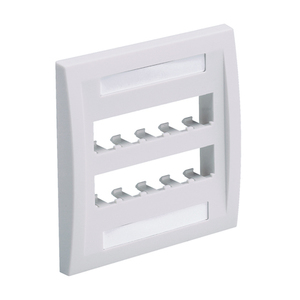 Panduit CFPE10WH-2GY Wallplate, Executive, 2-Gang, 10-Port, Box Mount, Mini-Com, White