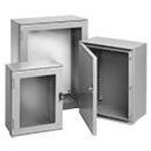 "Hoffman UU504020 Enclosure, NEMA 4X, Hinged Cover, 20"" x 16"" x 8"", Fiberglass"
