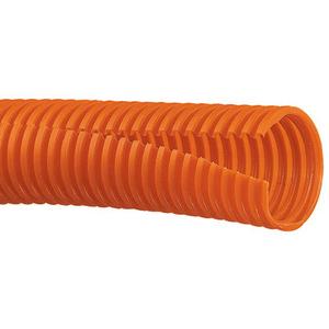 """Panduit CLT100F-C3 Corrugated Slit Loom Tubing, .92"""", Polyethylene, Orange"""