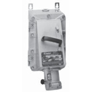 Appleton EBR15034FD15022 Circuit Breaker Receptacle, With 100A 600V 3-Pole FD Breaker