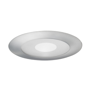 "Juno Lighting 212-SC Shower Trim, 5"", Frosted Lens, Clear Center, Satin Chrome Trim"