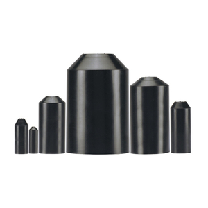 Panduit HSEC0.8-X Heat Shrink End Cap, Adhesive Lined, Ratio: 2.5:1, 600V, Black