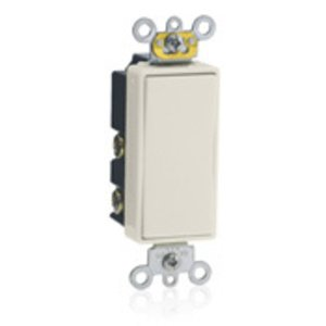 Leviton 5685-2T Decora Switch, 15A, 120/277V, Maintained, 1-Pole, Double Throw, Light Almond
