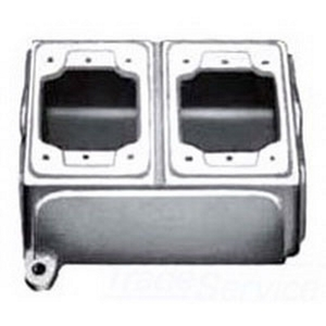 Appleton FDB-2L-A FD Device Box, 2-Gang, Type FD, 3/4 Inch, Aluminum