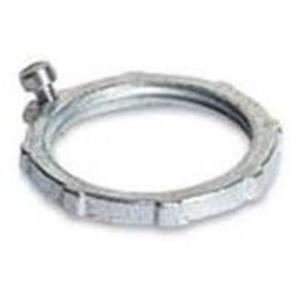 "Appleton GL150 Locknut, Type: Bonding, 1-1/2"", Steel/Zinc"