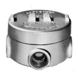 """Appleton GRUE100-A Universal Conduit Outlet Box, Type: GRUE, (5) 1"""" Hubs, Aluminum"""