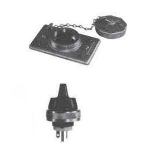 Appleton FSK5-15 FS Cover/Plug, Weatherproof, 1-Gang, Nema 5-15P, Malleable
