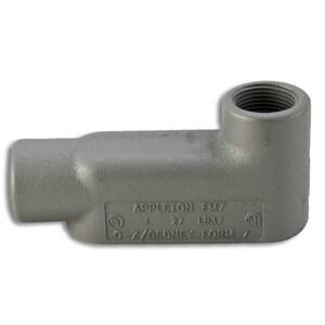 "Appleton LB47 Conduit Body, Type: LB, Form 7, Size: 1-1/4"", Grayloy Iron"