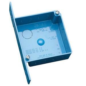 "Carlon A521DE 4"" Square Switch/Outlet Box with Bracket, Depth: 1-1/2"", Non-Metallic"
