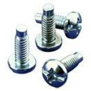 "Hoffman ES1224B Rack Mounting Screws, #12-24 x 5/4"" Combo, 50/Pack, Black"