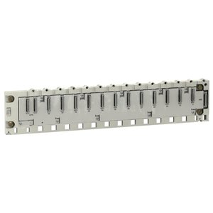Square D BMXXBP1200 Mounting Chassis, Modicon M340, 12 Slots, Panel, Plate or DIN Rail