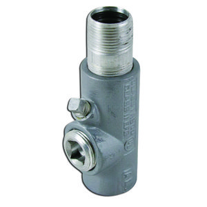 "Appleton EYM100-AL Sealing Fitting, 1"", Male/Female, Vertical (25% Fill), Aluminum"