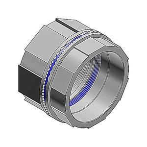 "Thomas & Betts H125BHD Bulkhead Fitting, 1-1/4"", Insulated, Nitrile Sealing Ring, Zinc"