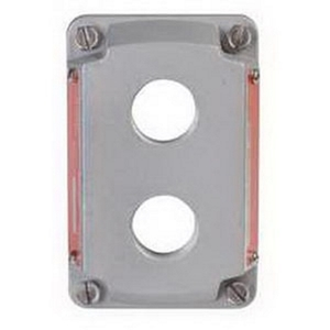 "Appleton ESKB2PBQ 2-Hole Cover for Pilot Light or Push Button, 3/4"" Tapped Openings"