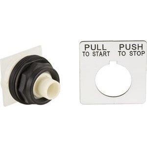Square D 9001SKR9 Push Button, 30mm, Mushroom Head, No Cap, 2 Position, Maintained