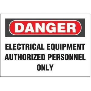 Panduit PPS0710D70 Adhesive Sign,Polyester,'Danger Electric
