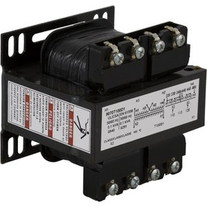 Square D 9070T100D20 Control Transformer, 100VA, 208/230/480 - 115, Type T, 1PH, Open