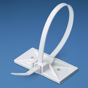 Panduit SMS-A-C Cable Tie Mount, Snap-In, Adh., WH