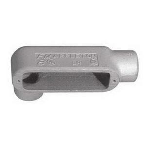 "Appleton LR58 Conduit Body, Type: LR, 1-1/2"", Form 8, Grayloy Iron"