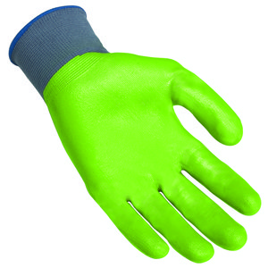 Lift Safety GPR-6G1L Green Nitrile Palm Side Dip Glove - X-Large