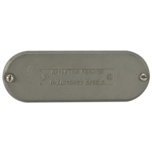 """Appleton K125&150-CM Conduit Body Cover, 1-1/4 to 1-1/2"""", Form 35, Malleable Iron"""