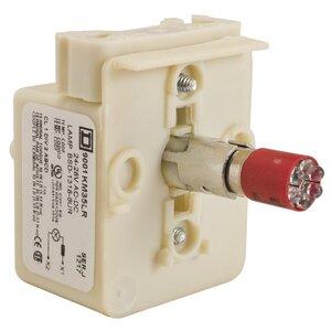 Square D 9001KM35LR Light Module, 30mm, 24V AC/DC, Transformer, LED, Red