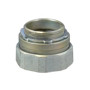 "Appleton NTC-350 Rigid Compression Connector, 3-1/2"", Steel, Concrete Tight"