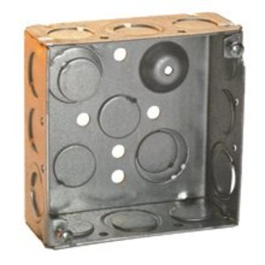 """Cooper Crouse-Hinds TP451 4"""" Square Box, Welded, Metallic, 2-1/8"""" Deep, Vertical Bracket"""