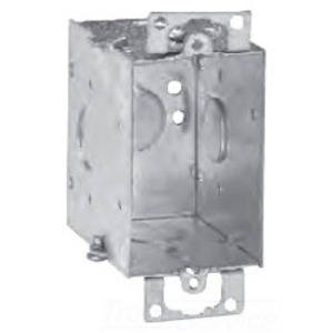 """Cooper Crouse-Hinds TP678 Switch Box, Gangable, 2-3/4"""" Deep, Conduit Knockouts, Ears"""