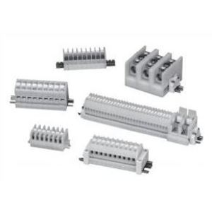 Square D 9080GR6204BC Terminal Block Assembly, 204 of Type GR6, 2 x 3' Strips, DIN Rail