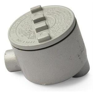 "Appleton GRLB50 Conduit Outlet Box, Type GRLB, (2) 1/2"" Hubs, Malleable"