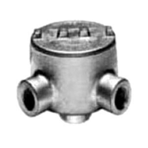 "Appleton GRLA75 Conduit Outlet Box, Type GRL, (3) 3/4"" Hubs, Malleable Iron"
