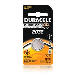 Duracell DL2032B2PK Battery, 3V, 2032, Lithium, Button Cell
