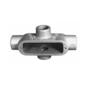 "Appleton X18 Conduit Body, Type: X, Size: 1/2"", Form 8, Grayloy Iron"
