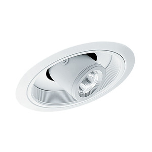 Juno Lighting 617-WWH Slope Trim, Low Voltage, Cylinder Spotlight, 6 Inch, MR16, White