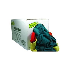 Dottie RGZ25 Recycled Colored Rags, Medium Weight - 25lb Bag
