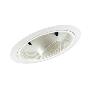 "Juno Lighting 616-WWH Slope Trim, Cylinder, 6"", White Baffle, Cylinder/White Trim"