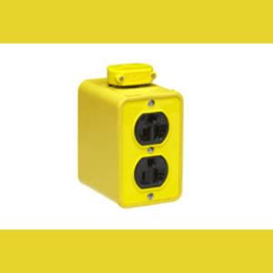 Woodhead 3000-10 Portable Outlet Box, 5-20 Duplex Receptacles