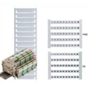 Weidmuller 0468660001 Terminal Block, Dekafix Marker, 5mm x 6mm, White, Horizontal