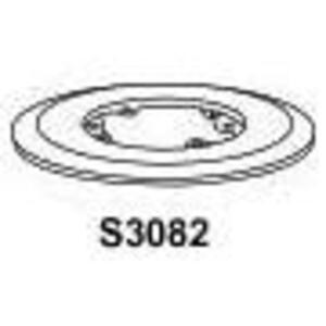 """Hubbell-Kellems S3079 Carp Flange, 5.25"""" Dia, Clr"""