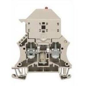 Weidmuller 1011300000 Terminal Block, Dark Beige, W-Series, Fused, 6mm, Screw Connection