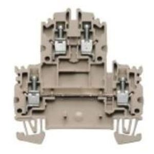 Weidmuller 1041900000 Terminal Block, 2 Tier, 4mm, W-Series, Dark Beige, Feed Through