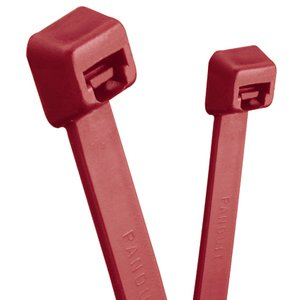 "Panduit PLT2S-C702Y Cable Tie, Standard, 7.4"" Long, Corrosion Resistant HALAR, Maroon"